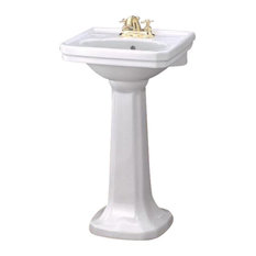 """Cheviot Products Mayfair Pedestal Sink, 20"""", 8"""" Faucet Drilling"""