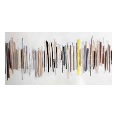 """Contemporary Hand Painted Canvas Art, Extra Large-Wide Open 1"""", 55x28"""