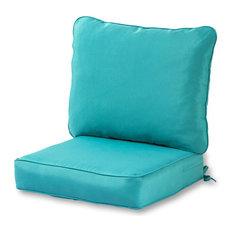 Outdoor 2-Piece Deep Seat Cushion Set, Teal