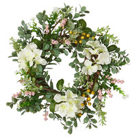 """Hydrangea Wreath With Pips, 14"""""""
