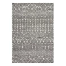 Moroccan Blythe Contemporary Area Rug, Dark Gray, 9'x12'