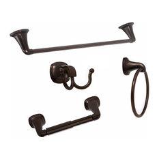 Arista 4-Piece Bathroom Hardware Set, Oil Rubbed Bronze