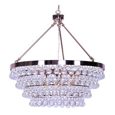 "Heidi 8 light Rose Gold K9 AAA Crystal Chandelier (28""Wx28""H) FS-001"