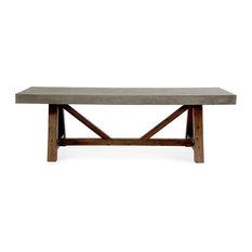 Modrest Revok Modern Concrete And Acacia Dining Table