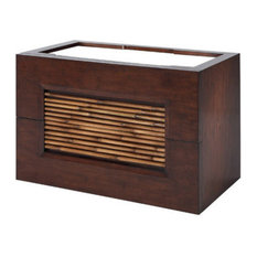 "Bambu Vanity 36"", Steel Mounting Frames Included, Dark Bamboo"