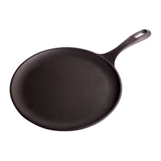 """Victoria Cast Iron Comal Griddle and Crepe Pan, 10.5"""", Seasoned"""