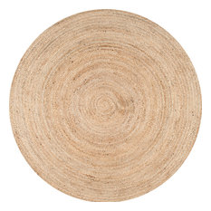 nuLOOM Hand Woven Jute and Sisal Rigo Area Rug, Natural, 6' Round