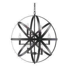 Dark Brown Cage Orb Light Fixture