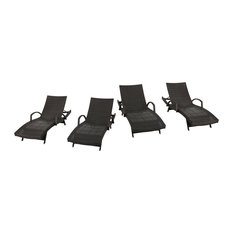 Outdoor Armed Chaise Lounge - Set of 4