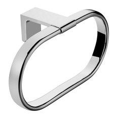 Maykke - Dash Towel Ring, Polished Chrome - Towel Rings