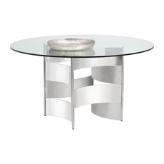 Quade Dining Table Base Polished Ss