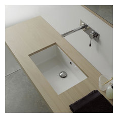 "Nameeks 8090 Scarabeo 18-3/8"" Ceramic Undermount Bathroom Sink - Includes Overf"