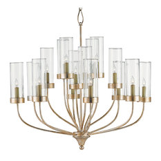 Hurricane chandeliers houzz rowen modern classic glass hurricane 16 light chandelier chandeliers aloadofball Image collections