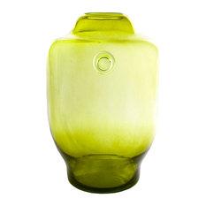 Retro Wide Vase, Olive