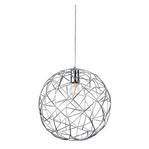 Praga Steel Pendant Light, Chrome