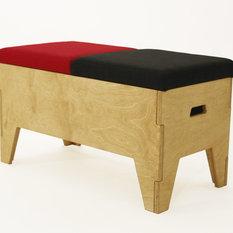 banc coffre contemporain. Black Bedroom Furniture Sets. Home Design Ideas