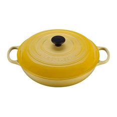 Le Creuset Signature Soleil Yellow Enameled Cast Iron Braiser, 5 Quart