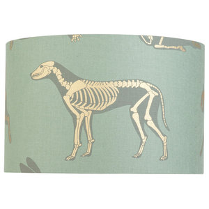 """Animal Magic"" Lampshade, Green and Gold, Pendant Fitting"