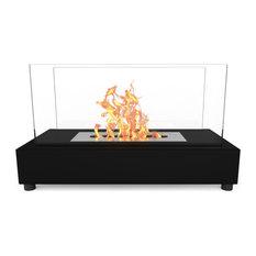 Moda Flame Vigo Ventless Indoor Outdoor Fire Pit, Et7010Bk-Mf2