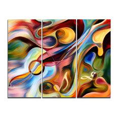 """Music beyond the Frames"" Canvas Print, 3 Panels, 36""x28"""