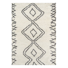 """Maya Collection Rug, Ivory With Charcoal, 3'11""""x5'7"""""""