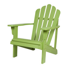 Shine Company Westport II Adirondack Chair With Hydro-Tex Finish, Lime Green