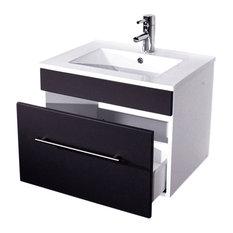 Emotion Pluto Bathroom Furniture, White High-Gloss, 60 cm, Anthracite Semi-Gloss