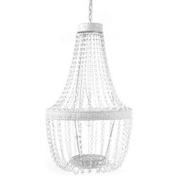 Best Contemporary Chandeliers Beaded Chandelier White