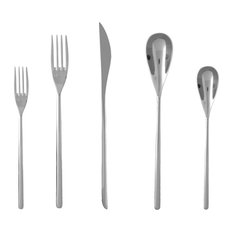 Fortessa Tableware Solutions - Fortessa Dragonfly 18/10 Stainless Steel Flatware 5-Piece Place  sc 1 st  Houzz & Fortessa Tableware Solutions LLC Tabletop Products | Houzz