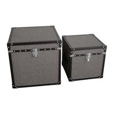 Square Tweed Trunks - Set of 2