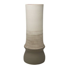 Sagebrook Home Beige/Brown Ombre Vase 17.25""
