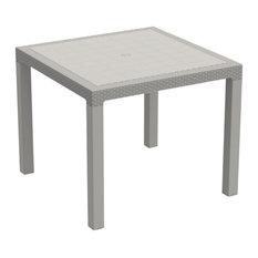 Duramax Rattan 4-Seater Patio Table, Gray