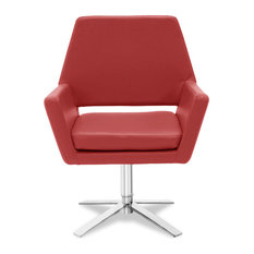 Lift Swivel Occasional Chair, Red