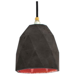 T1 Triangle Pendant Light, Charcoal/Copper