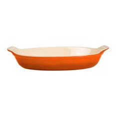 Le Creuset Heritage Flame Stoneware Petite Au Gratin Dish, 6 Ounce