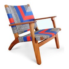 Woven Manila Arm Chair, Ometepe, Royal Mahogany