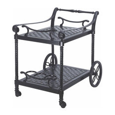 Grand Terrace Serving Cart, Welded, Shade