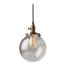 Glass globe pendant lighting houzz olde brick lighting clear glass globe pendant light fixture with 8 shade hand blown mozeypictures Images
