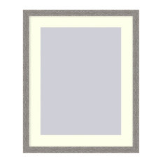Wall Picture Frame Hammered Grey Pearlized finish wtih a white acid-free matte,