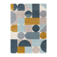 """Well Woven Ruby Dede Midcentury Modern Geometric Patterned Blue 5'3""""x7'3"""" Rug"""
