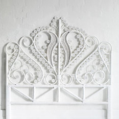 - Queen Peacock Bed Head White - Headboards