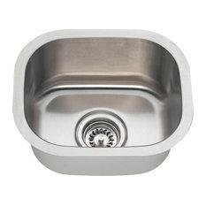 Polaris P2151-16 16 Gauge Square Stainless Steel Bar Sink