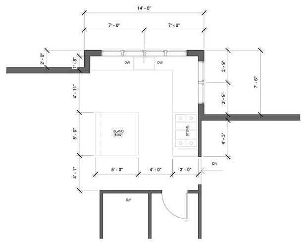 Floor Plan Kitchen of the Week: Modern and Rustic Meets Open and Airy