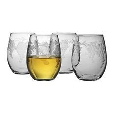 Sonoma Stemless Wine Glasses, Set of 4