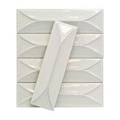 Sample of Byzantine Bianco 3D Ceramic Subway Tile Sample