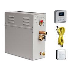 EliteSteam 10kW Steam Shower Generator Kit Shower System, Polished Nickel