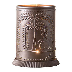 Candle Warmer With Willow and Sheep, Kettle Black