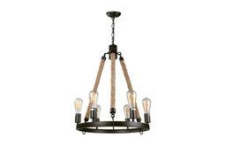 6-Light Rustic Pendant Lighting Fixtures