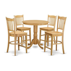 5-Piece Counter Height Pub Set Kitchen Table And 4 Bar Stools