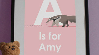 Personalised Name Print with Animal (options from A to Z)
